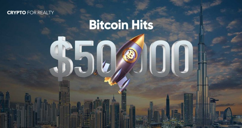 Bitcoin Hitting up to $50,000: Another Great Reason to Invest in Real Estate with Crypto Currency